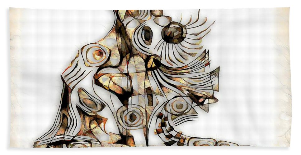 Abstraction Bath Sheet featuring the digital art Abstraction 2737 by Marek Lutek