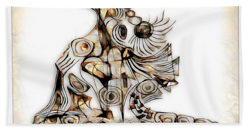 Abstraction Bath Sheet featuring the digital art Abstraction 2739 by Marek Lutek