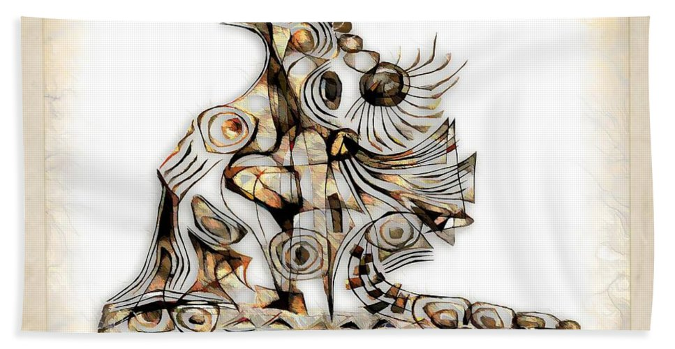 Abstraction Bath Sheet featuring the digital art Abstraction 2740 by Marek Lutek