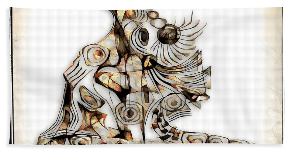 Abstraction Bath Sheet featuring the digital art Abstraction 2741 by Marek Lutek