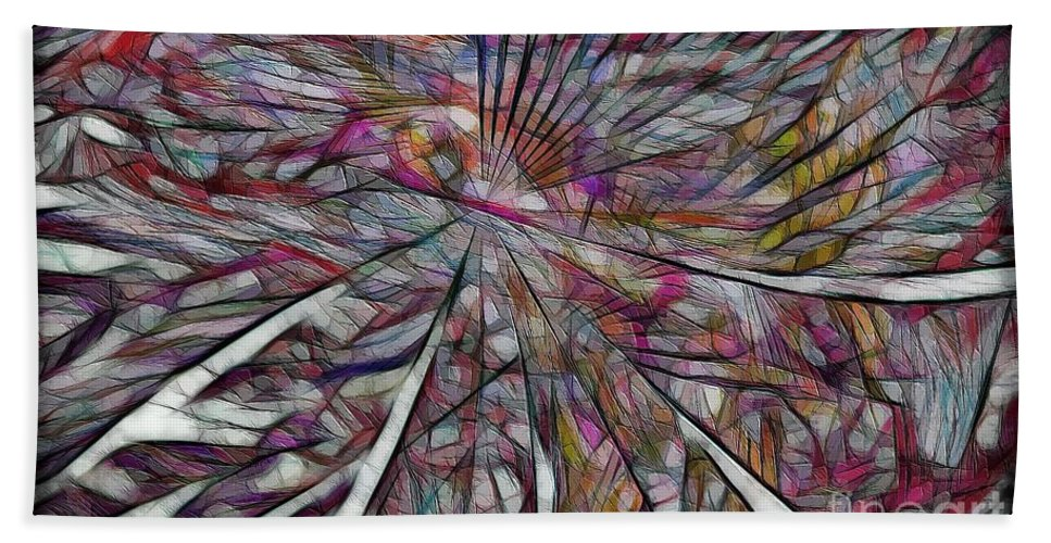Abstraction Hand Towel featuring the digital art Abstraction 3096 by Marek Lutek