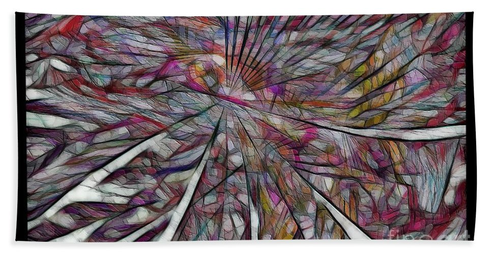 Abstraction Hand Towel featuring the digital art Abstraction 3097 by Marek Lutek