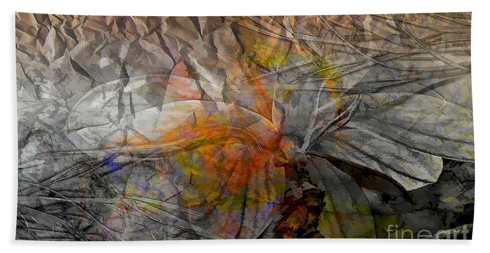 Abstraction Hand Towel featuring the digital art Abstraction 3414 by Marek Lutek