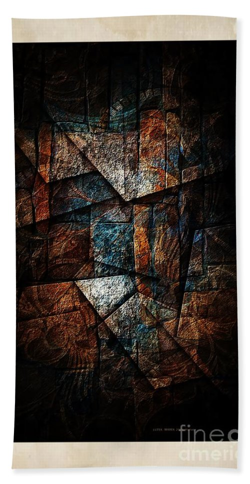 Abstraction Hand Towel featuring the digital art Abstraction 3421 by Marek Lutek