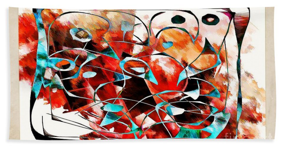 Abstraction Hand Towel featuring the digital art Abstraction 3426 by Marek Lutek