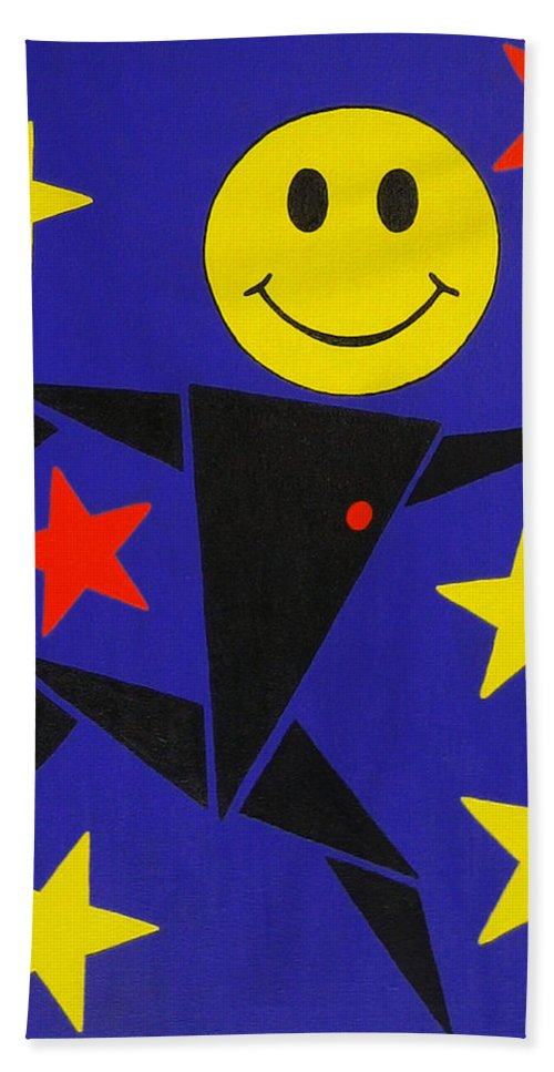 Surreal Hand Towel featuring the painting Acid Jazz by Oliver Johnston
