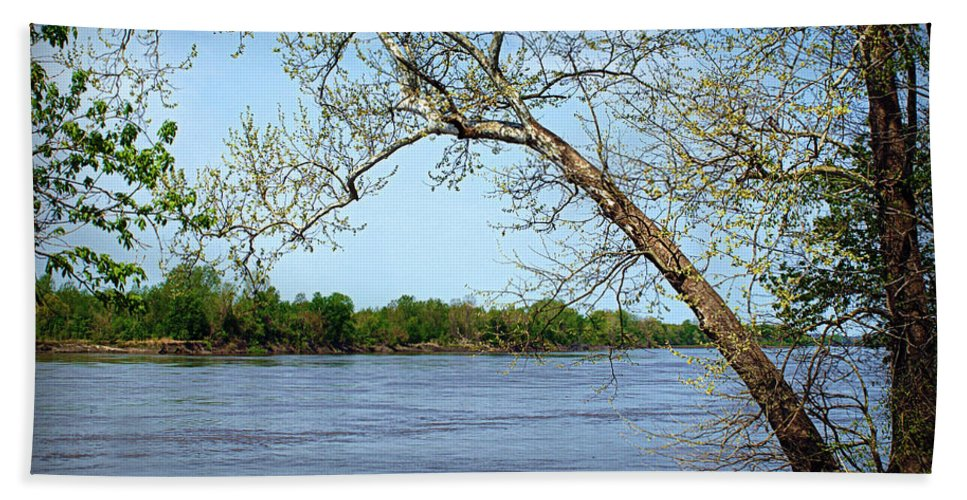 missouri River River Bath Sheet featuring the photograph Across The Wide Missouri by Cricket Hackmann