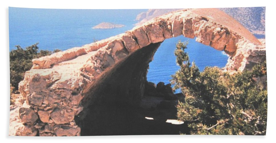 Greece Bath Towel featuring the photograph Across To Turkey by Ian MacDonald