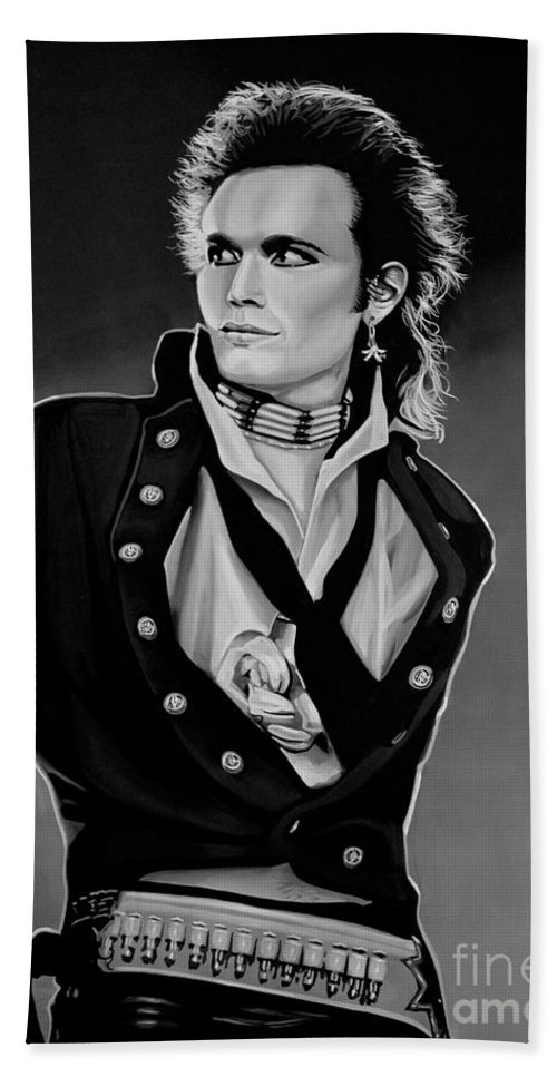 Adam Ant Bath Towel featuring the painting Adam Ant Painting by Paul Meijering