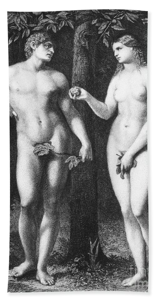 16th Century Hand Towel featuring the photograph Adam & Eve by Granger