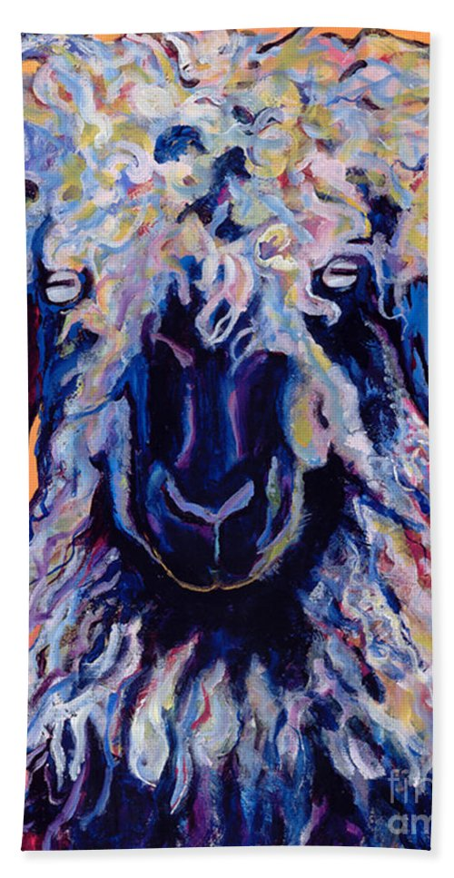 Goat Print Hand Towel featuring the painting Adelita  by Pat Saunders-White