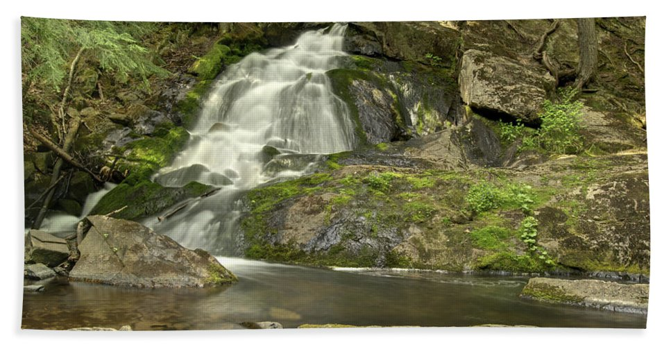 Landscape Hand Towel featuring the photograph Adler Falls by Michael Peychich
