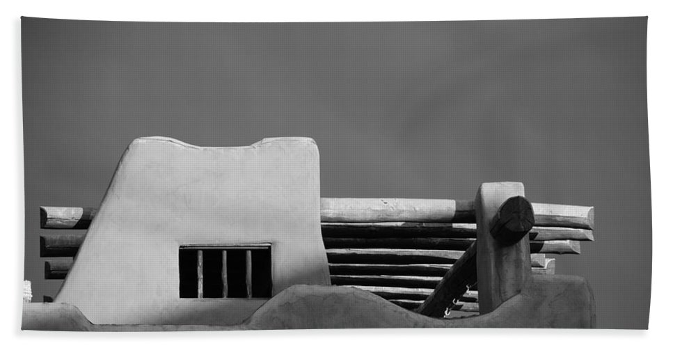 Architecture Bath Towel featuring the photograph Adobe Turrett by Rob Hans