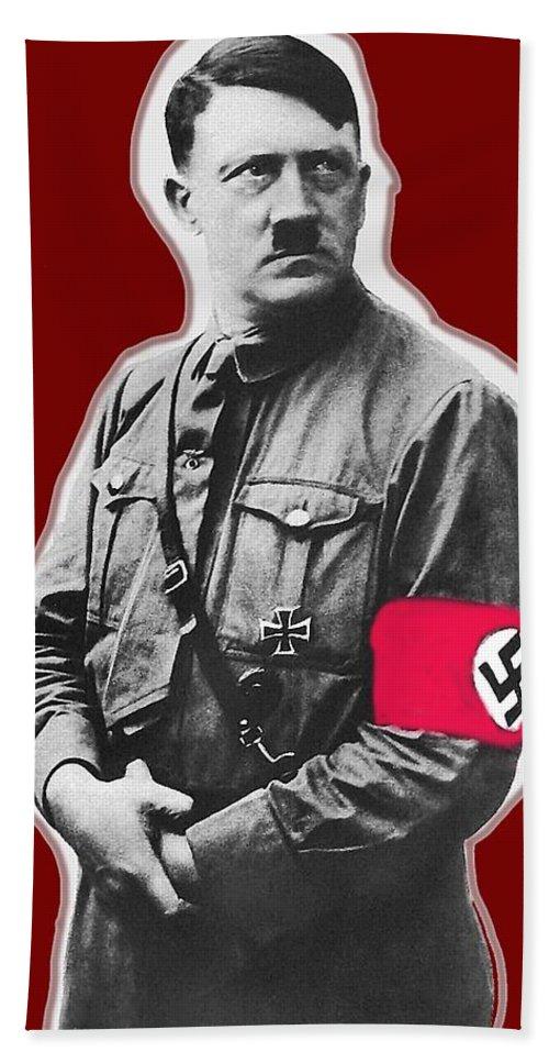 Adolf Hitler Crossed Hands Circa 1934-2015 Bath Sheet featuring the photograph Adolf Hitler Crossed Hands Circa 1934-2015 by David Lee Guss