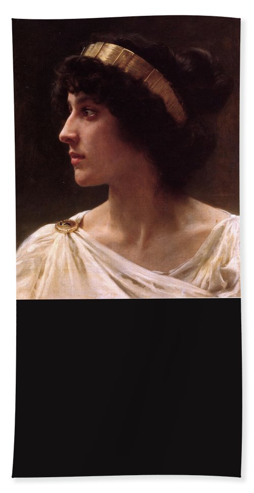 L'innocence Hand Towel featuring the painting L'innocence by William-Adolphe Bouguereau