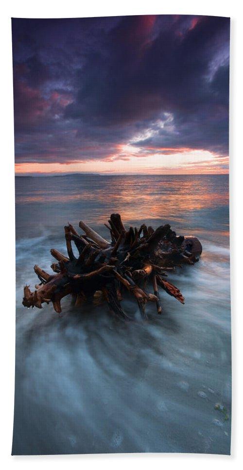 Stump Bath Sheet featuring the photograph Adrift by Mike Dawson