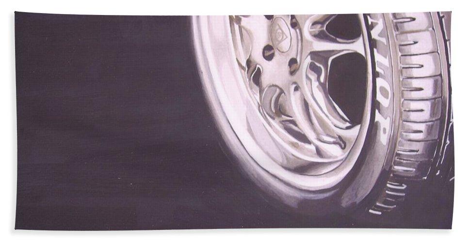 Wheel Bath Sheet featuring the digital art Adverts On Tyres by Olaoluwa Smith