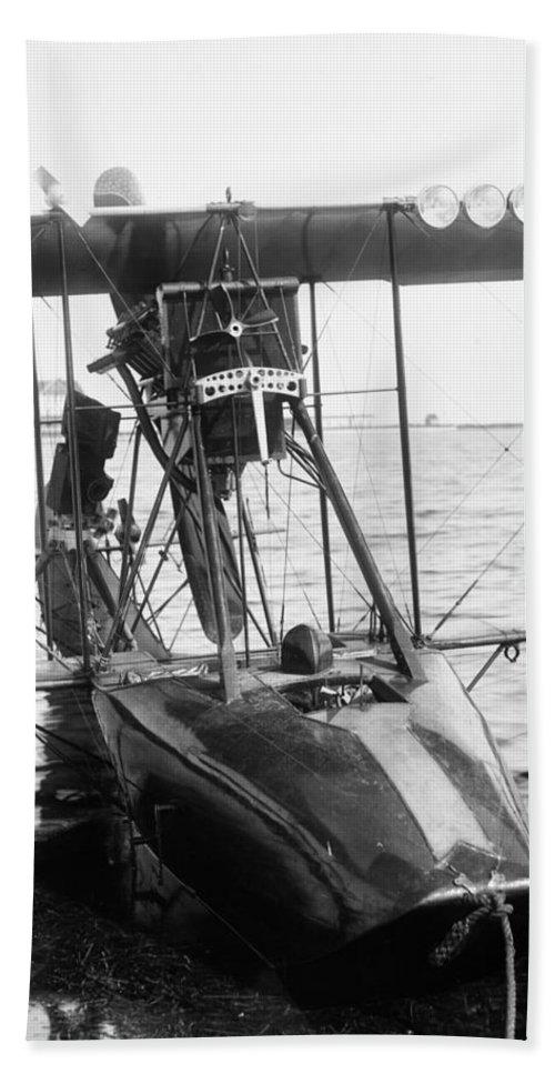 1915 Bath Sheet featuring the photograph Aerial Torpedo, 1915 by Granger