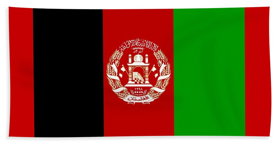 Flag Hand Towel featuring the digital art Afghanistan Flag by Frederick Holiday