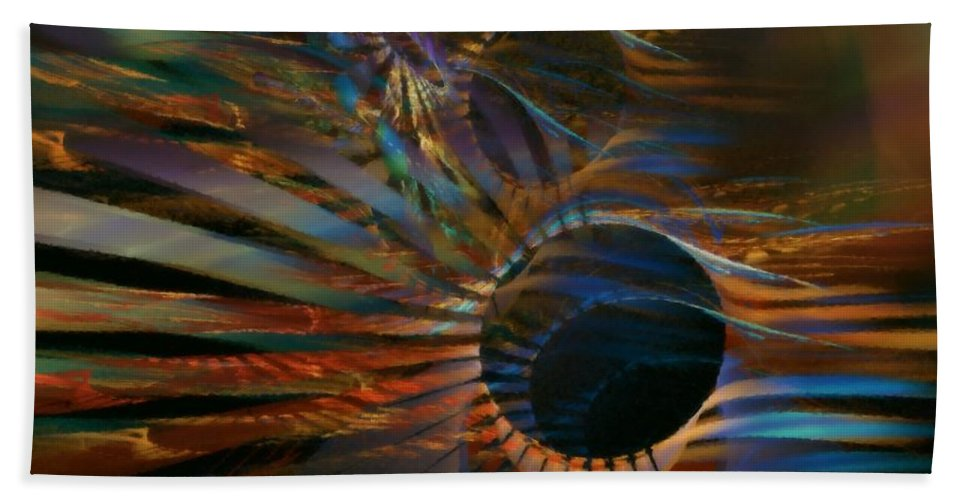 Abstract Hand Towel featuring the digital art After Hours by NirvanaBlues