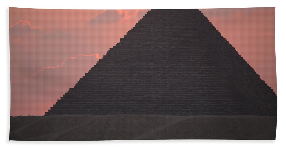 Pyramid Bath Sheet featuring the photograph After Sundown by Donna Corless