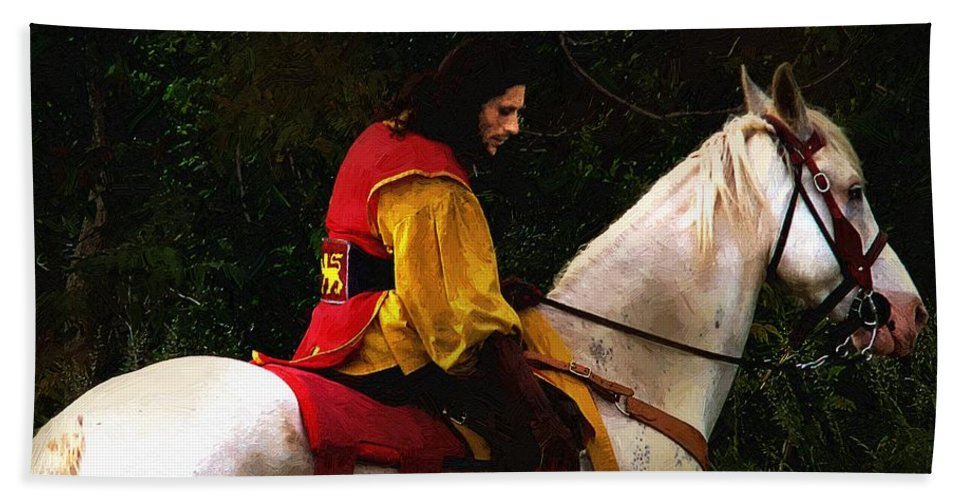 Horse Bath Sheet featuring the painting After The Battle by RC DeWinter