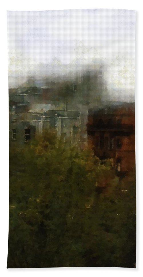Blitz Bath Sheet featuring the painting After The Blitz by RC DeWinter