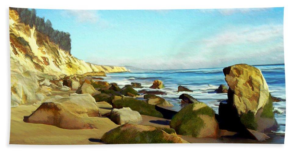 Ocean Hand Towel featuring the photograph After The Fog Gaviota by Kurt Van Wagner