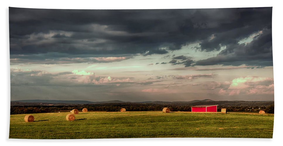 Farm Hand Towel featuring the photograph After The Rain by Eleanor Bortnick