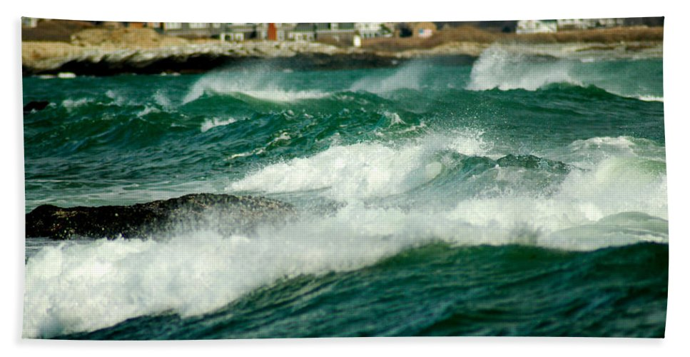 Rhode Island Bath Sheet featuring the photograph After The Storm by Greg Fortier