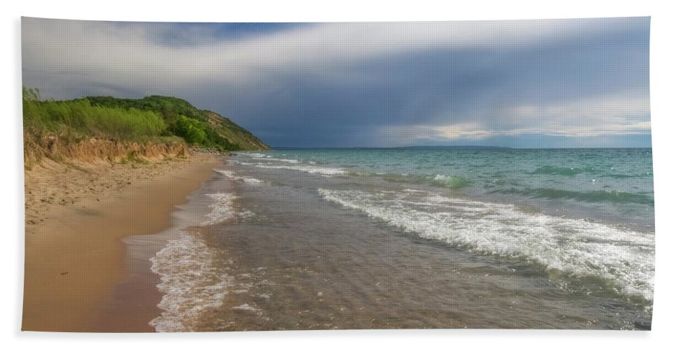 Storm Bath Towel featuring the photograph After The Storm by Heather Kenward