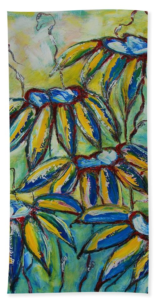 Flower Hand Towel featuring the painting After The Sun by Mihai Banutoiu