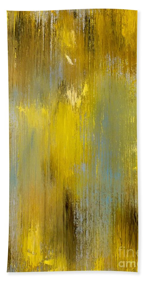 Abstract Hand Towel featuring the painting Afterglow by Wayne Cantrell