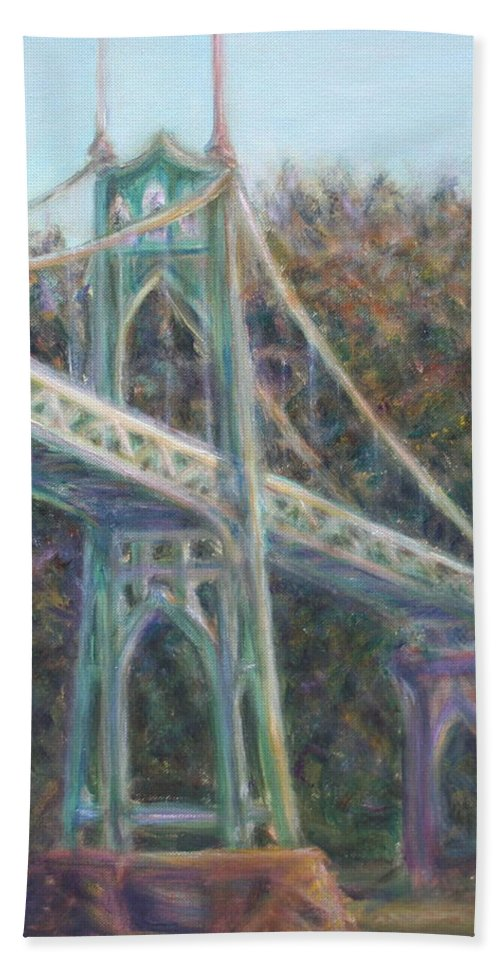 Quin Sweetman Bath Towel featuring the painting Afternoon Glow On The St Johns by Quin Sweetman