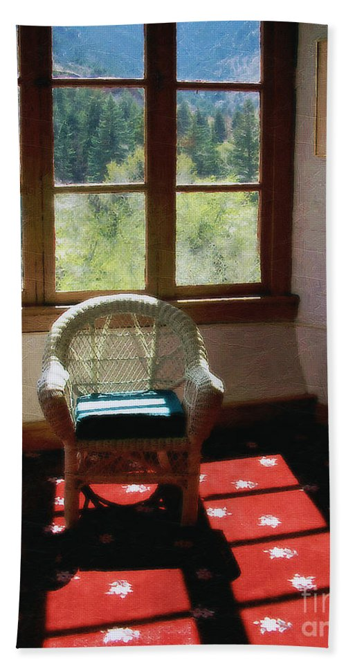 Antiques Bath Sheet featuring the painting Afternoon In The Solarium by RC DeWinter