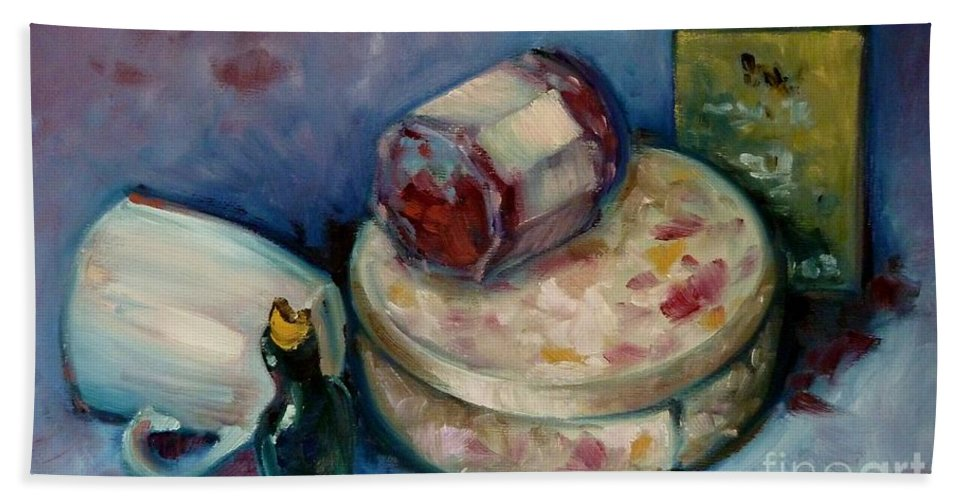Tea Bath Sheet featuring the painting Afternoon Tea by K M Pawelec
