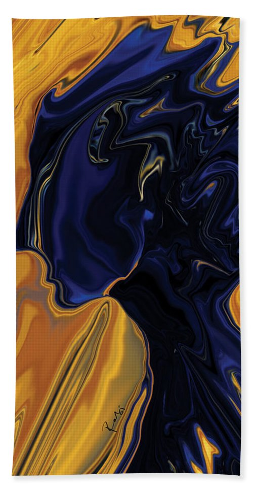 Abstract Bath Sheet featuring the digital art Against The Wind by Rabi Khan