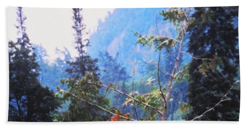 Agawa Hand Towel featuring the photograph Agawa Canyon by Ian MacDonald