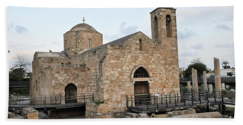 Basilica Hand Towel featuring the photograph Agia Kyriaki, Paphos, Cyprus by Shay Levy