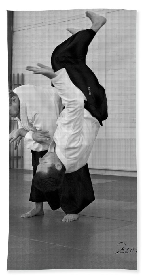 Fine Art Bath Sheet featuring the photograph Aikido Up And Down by Frederic A Reinecke