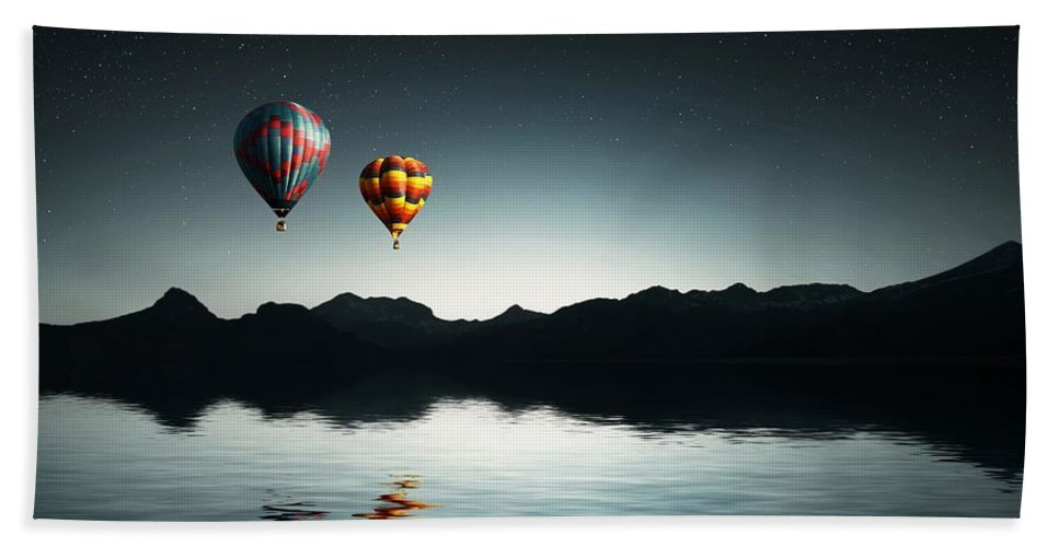 Ballooning Bath Sheet featuring the photograph Air Balloons by FL collection