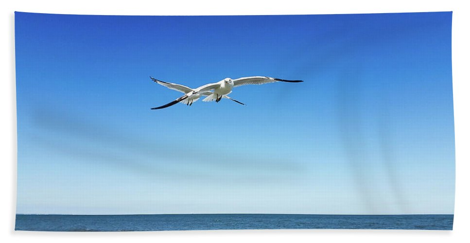 Hand Towel featuring the photograph Air Play by Belinda Jane