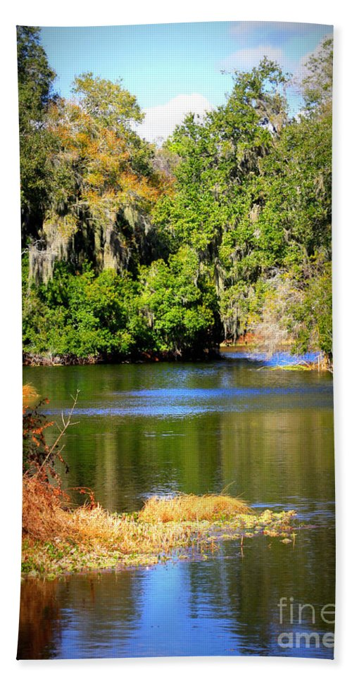 Alafia River Hand Towel featuring the photograph Alafia River by Carol Groenen