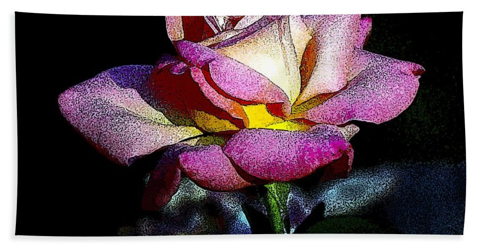 Floral Bath Sheet featuring the photograph Alan Rose by Norman Andrus