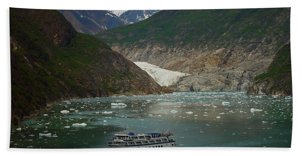 Alaska Bath Sheet featuring the photograph Alaska Endicott Glacier by Heather Coen