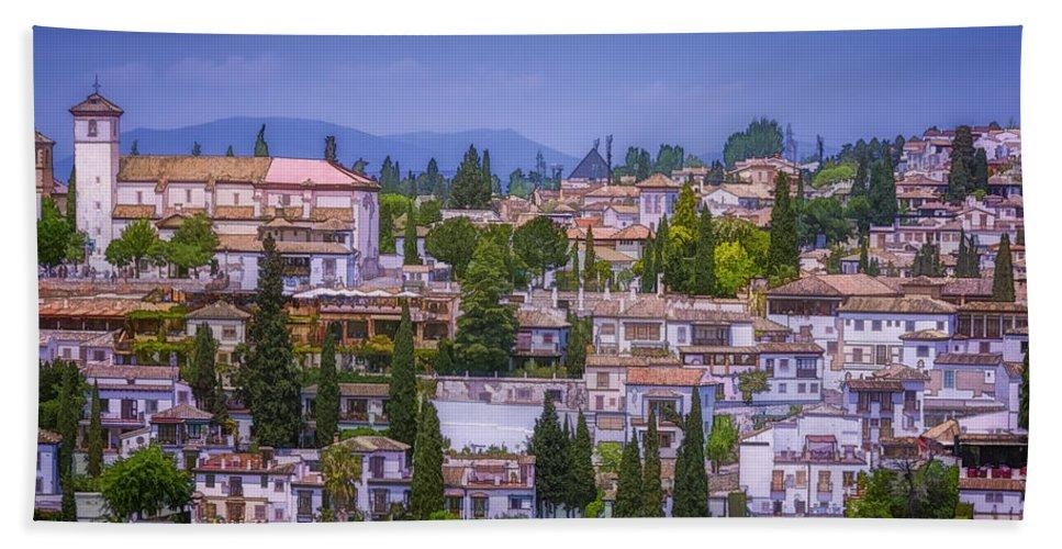 Joan Carroll Bath Sheet featuring the photograph Albayzin View Granada by Joan Carroll