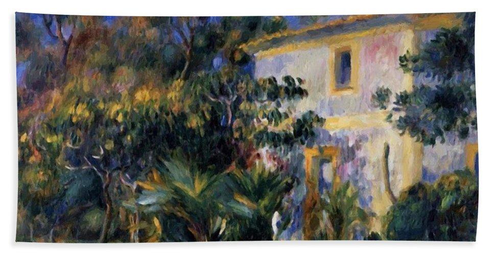 Algiers Hand Towel featuring the painting Algiers Landscape 1895 by Renoir PierreAuguste