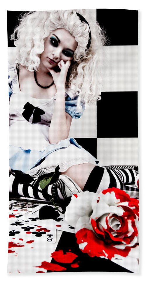 Alice In Wonderland Bath Towel featuring the photograph Alice2 by Kelly Jade King