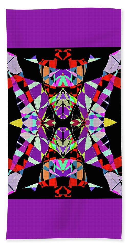 Abstract Bath Sheet featuring the digital art Alien by Barbara Gerry