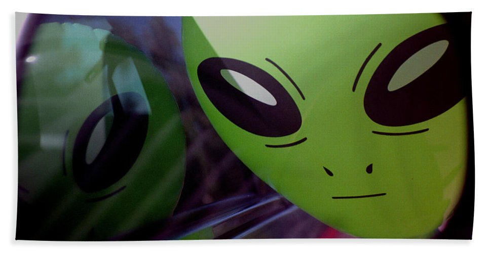 Alien Bath Sheet featuring the photograph Alien Is Closer Than He Appears by Richard Henne